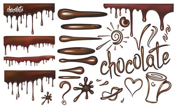 巧克力液体矢量