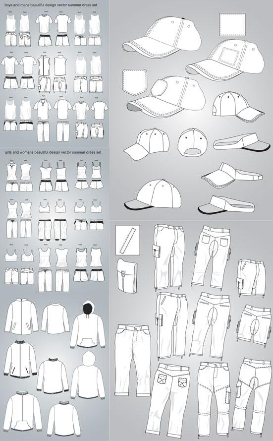 服装设计矢量
