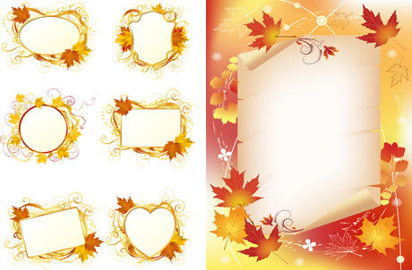 Maple Leaf decorative borders