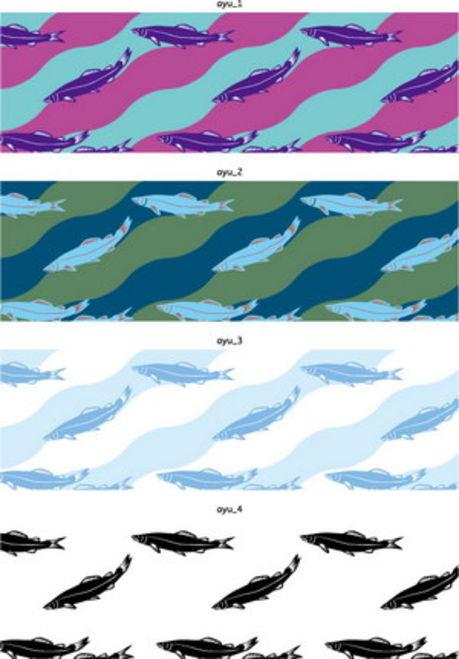 日式鱼纹花边