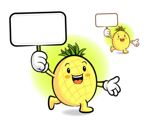 卡通菠萝矢量