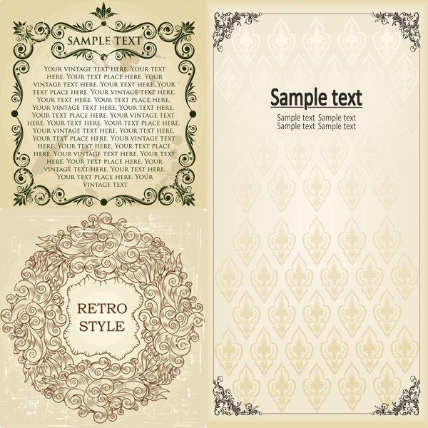 怀旧,花纹,复古,背景,文字,边框,页眉,页脚,环形花纹,矢量素材,花边