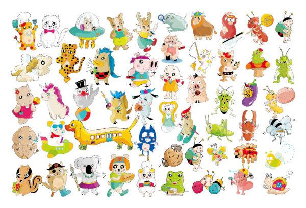 素材分类: 矢量卡通动物所需点数: 0 点 关键词: 多款超级可爱动物矢图片