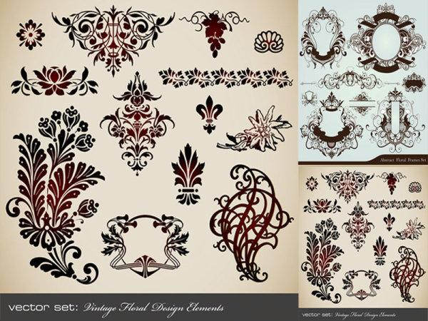 环纹,花纹,图案,欧式,经典,复古,花边,矢量素材,eps格式 下载文件特别图片
