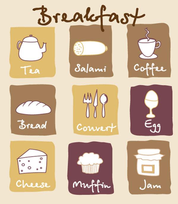 可爱的早餐