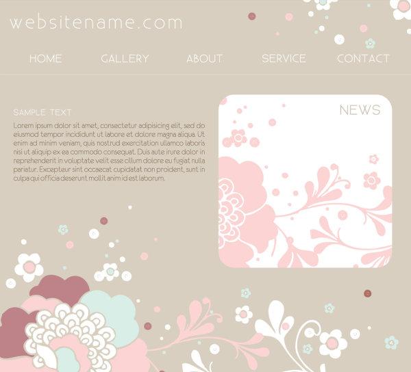 粉红网站设计