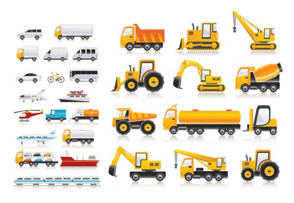 矢量交通所需点数: 0 点 关键词: 各式各样的交通工具矢量素材,汽车