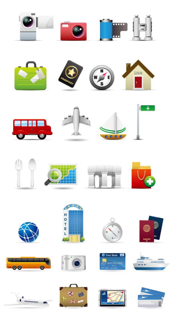 素材分类: 矢量各式图标所需点数: 0 点 关键词: 2款旅行主题矢量