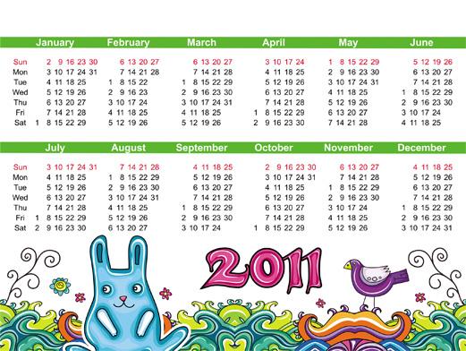 2011年手绘日历_素材中国sccnn.com