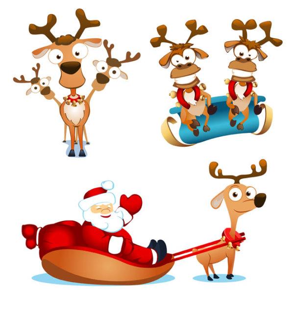 麋鹿与圣诞老人