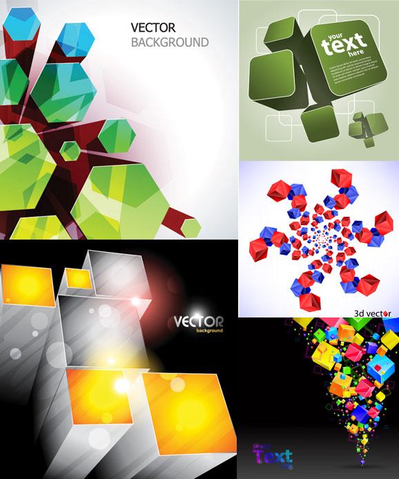 矢量背景所需点数: 0 点 关键词: 超酷立方体背景矢量素材,立方体,柱
