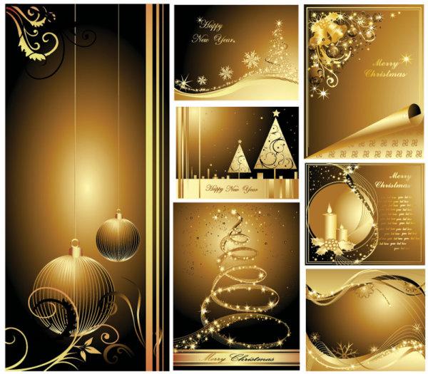 圣诞节黄金贺卡