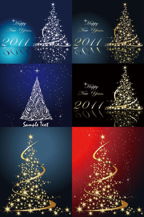 梦幻璀璨的圣诞树