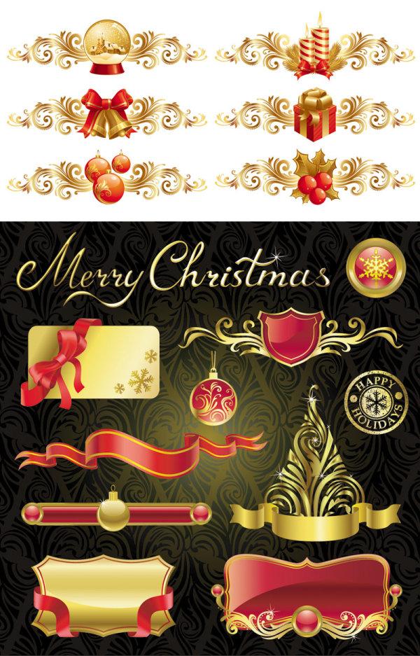 圣诞节的设计元素