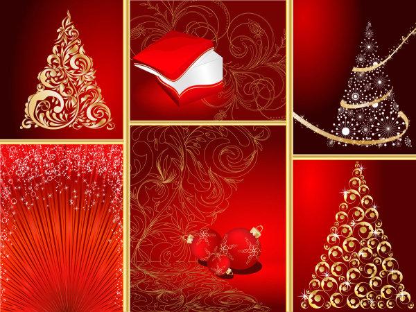 红色圣诞节图形