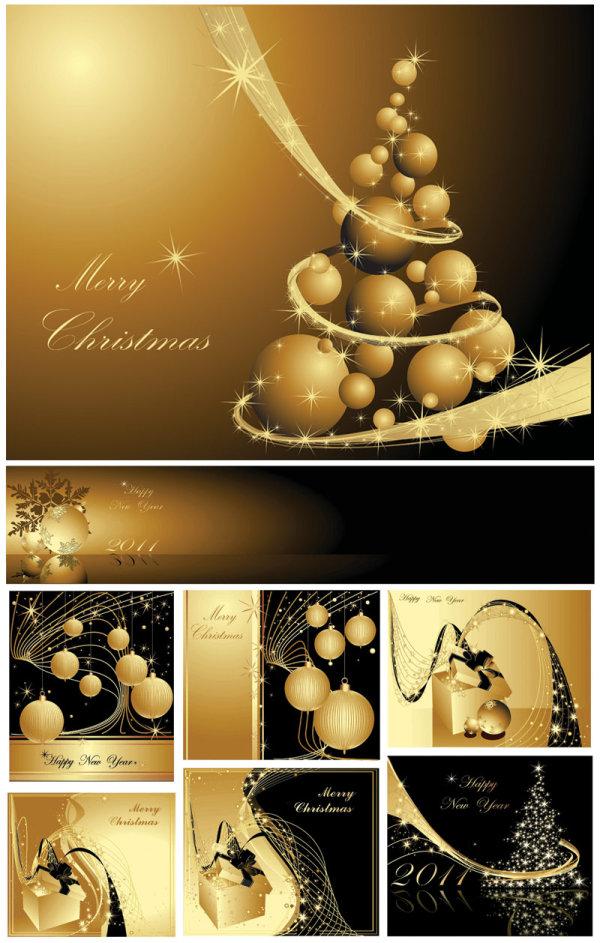 圣诞黄金背景2