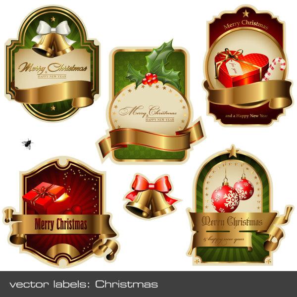 圣诞矢量标签