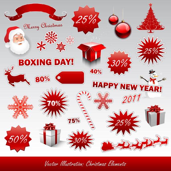 新年圣诞节图标