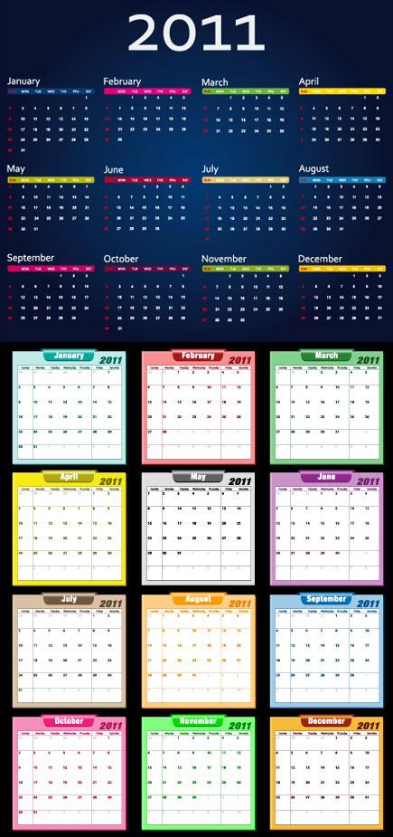 五颜六色日历
