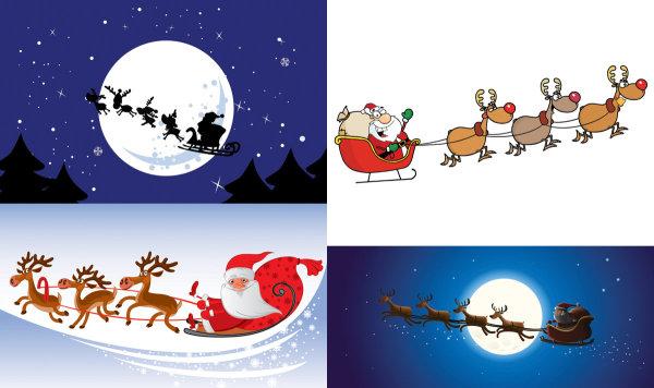 圣诞老人与麋鹿