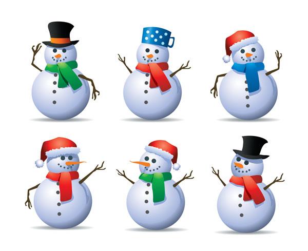 6款雪人矢量素材