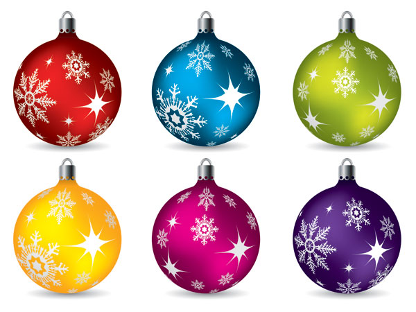 球���*��h�f_圣诞节挂球矢量