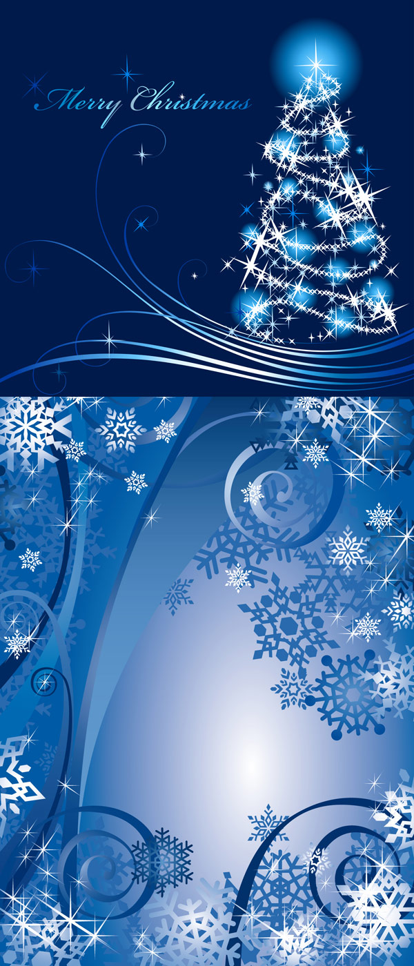 蓝色新年背景