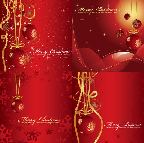 喜庆的圣诞背景