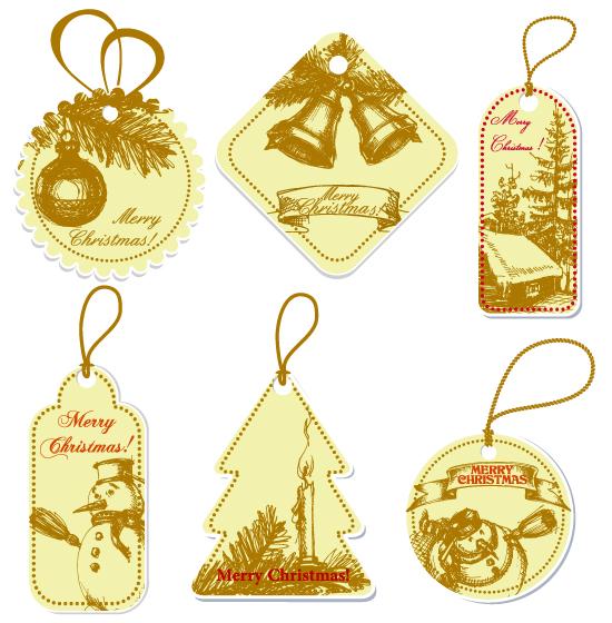 圣诞节吊牌标签