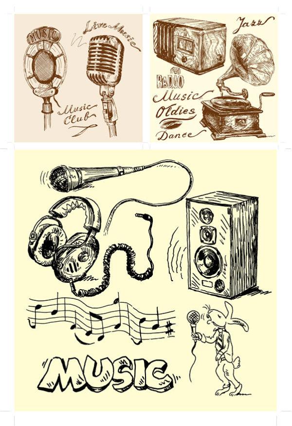 手绘音响设备