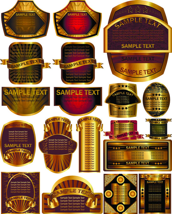 金色奢华瓶贴