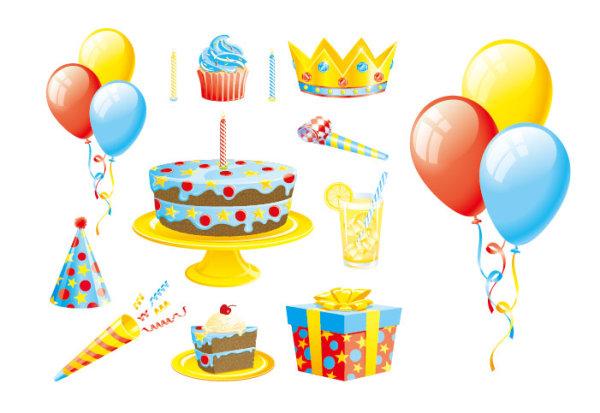 气球蛋糕礼物彩带