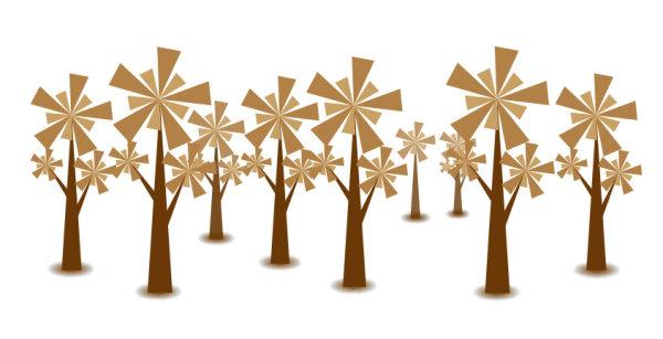 素材分类: 矢量花草树木所需点数: 0 点 关键词: 树矢量素材,树,风车