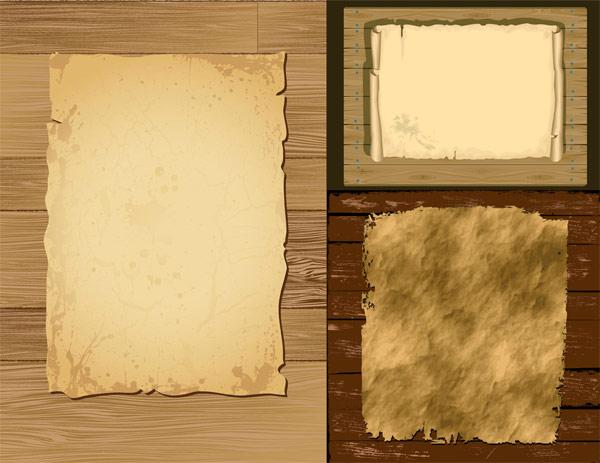 旧纸张与木板