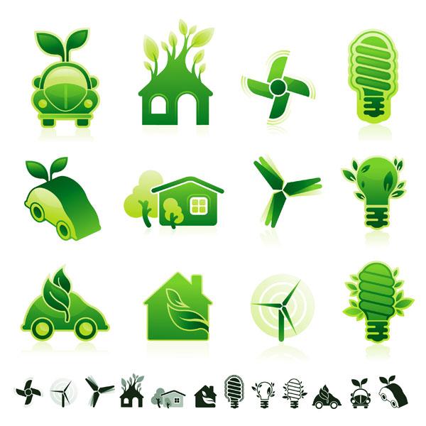 绿色环保图标_素材中国sccnn.com