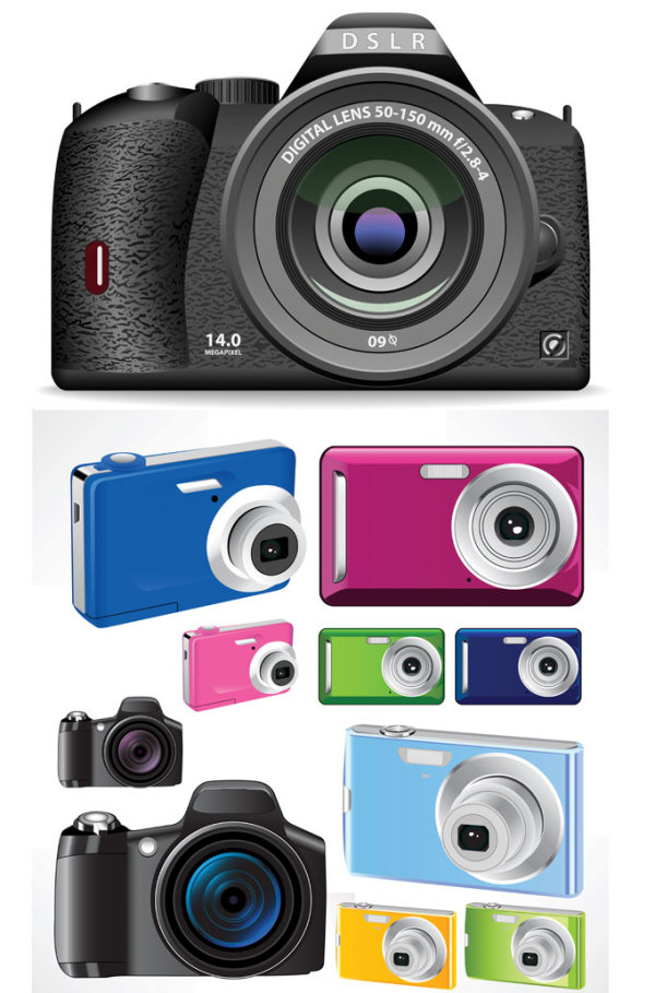 0 点 关键词: 时尚彩色相机矢量素材,照相机,矢量素材,eps格式 下载