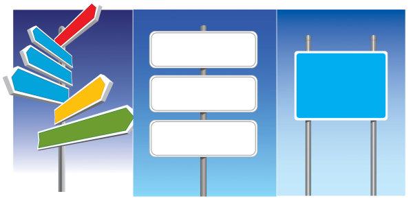公路标志矢量