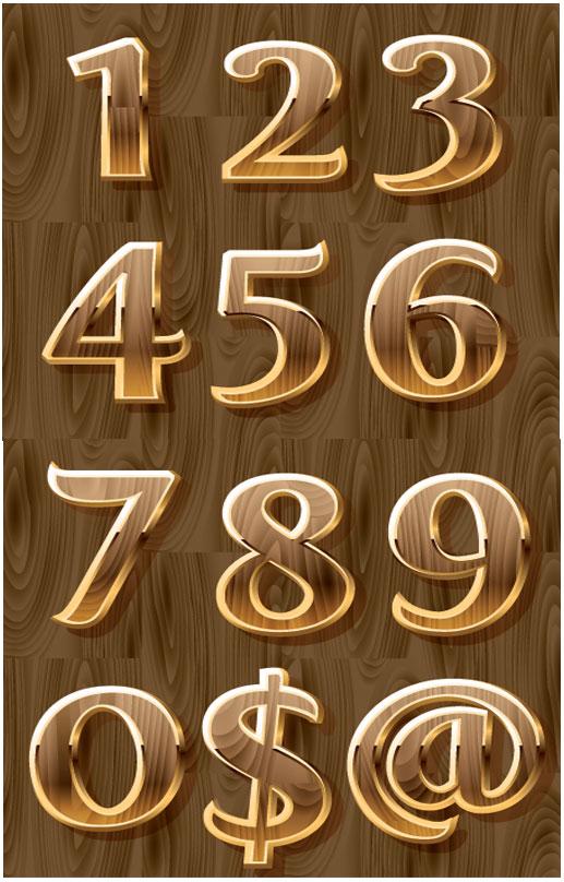 立体数字符号
