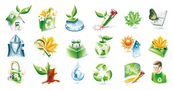 环保 素材/立体环保图标...