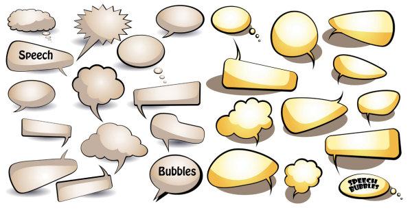 对话泡泡矢量_矢量各式图标