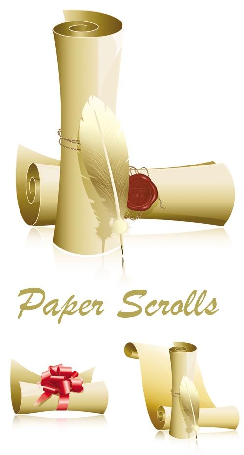 卷纸矢量素材