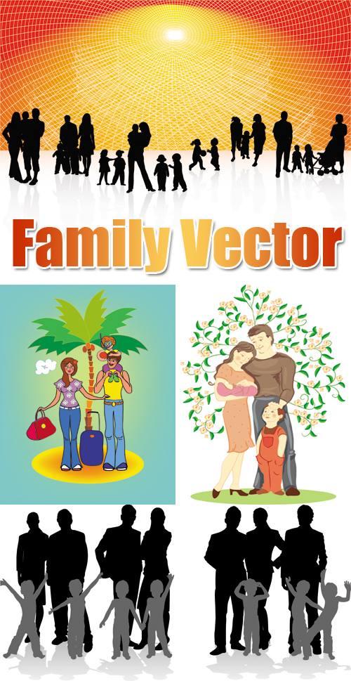 一家人矢量素材,幸福家庭,幸福生活,快樂生活,快樂一家,一家人,運動