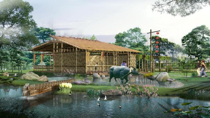 田园风光欧式独栋小别墅设计图