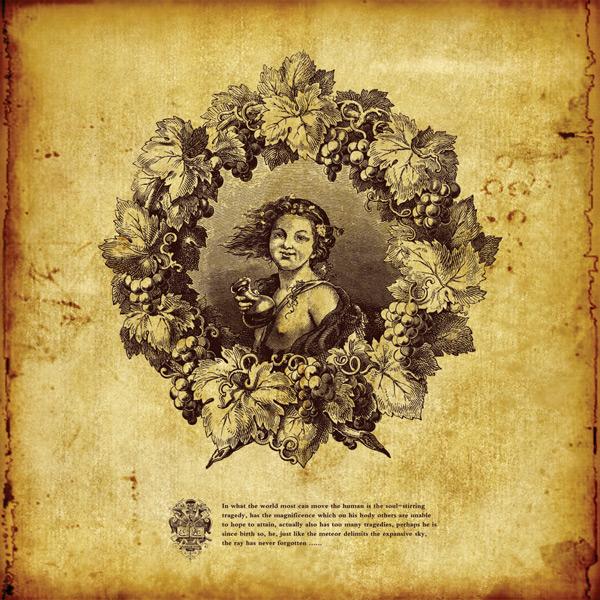 欧式葡萄少女复古海报