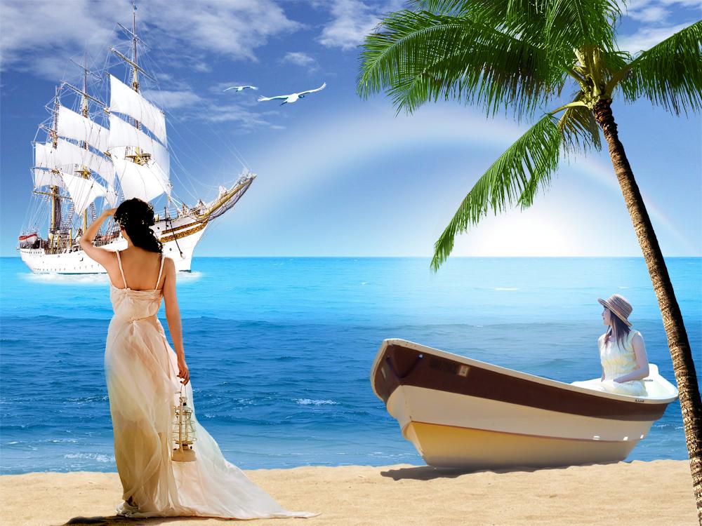 海滩海洋风光
