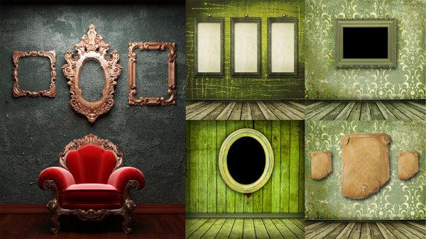 所需点数: 0点 关键词: 欧式沙发画框高清图片,墙壁,涂鸦,灯具,壁灯