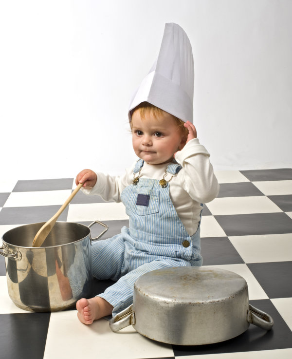 儿童厨师帽子的折法步骤图