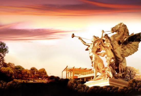 素材分类: 平面广告所需点数: 0 点 关键词: 欧式雕塑夕阳美景地产
