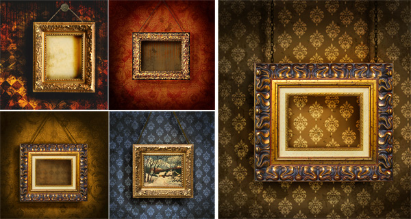 素材 中国 相框/古典木质相框