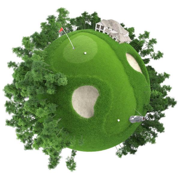 高尔夫球场极坐标
